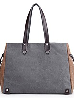 Women Bags All Seasons Canvas Shoulder Bag Zipper for Blue Black Gray Purple