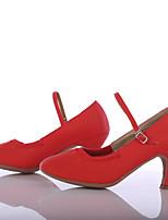 Women's Modern Leatherette Heel Outdoor Customized Heel Red Customizable