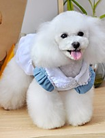 Dog Dress Dog Clothes Casual/Daily Jeans Blue