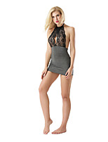 Women's Ultra Sexy Nightwear,Sexy Lace Patchwork-Thin Polyester