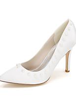 Da donna scarpe da sposa Decolleté Primavera Estate Raso Matrimonio Serata e festa Perle di imitazione A stiletto Viola Rosso Blu