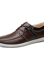Da uomo Scarpe Pelle Primavera Autunno Comoda Scarpe formali Scarpe da immersione Sneakers Per Casual Nero Blu Marrone chiaro Marrone