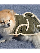 Dog Coat Dog Clothes Casual/Daily Solid Green