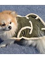 Cane Cappottini Abbigliamento per cani Casual Tinta unita Verde