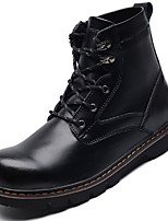 Men's Shoes Leatherette Fall Winter Riding Boots Fashion Boots Motorcycle Boots Bootie Boots Cycling Shoes Booties/Ankle Boots Lace-up For