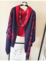 Women's Imitation Cashmere Rectangle Print Spring/Fall Autumn