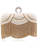 Donna Sacchetti Per tutte le stagioni Poliestere Borsa da sera Dettagli con cristalli Dettagli con perline per Matrimonio Serata/evento