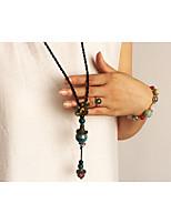Жен. Ожерелья с подвесками В форме цветка Сплав Мода По заказу покупателя Бижутерия Назначение Повседневные