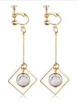 Women's Hoop Earrings Fashion Bling Bling Shell Alloy Jewelry For Wedding Office & Career