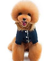 Cane Gilè Abbigliamento per cani Casual Tinta unita Blu scuro Rosso
