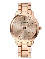 cheap -Men's Fashion Watch Quartz Alloy Band Casual Black Silver Gold Rose Gold