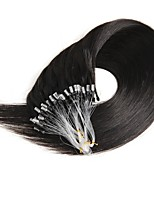 16-24 Inch 50g Micro Ring Loop 100% Human Hair Extensions Natural Soft Real Beauty Straight Hair Gift 100strands in One Pack