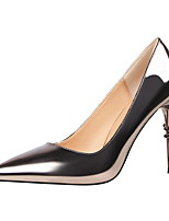 Women's Shoes Leatherette Spring Fall Comfort Heels Stiletto Heel Pointed Toe For Dress Champagne Almond Red Gray Silver