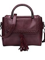Women Bags All Seasons PU Shoulder Bag for Casual Office & Career Black Gray Yellow Wine