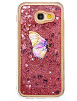 For Case Cover Flowing Liquid Pattern Back Cover Case Butterfly Glitter Shine Hard PC for Samsung Galaxy A5(2017) A7(2017) A7(2016)