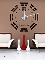 Modern/Contemporary Country Casual Office/Business Others Asian Theme Abstract Wall Clock,Circular EVA Stainless steel Indoor/Outdoor