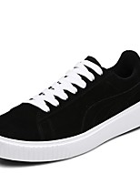 Women's Shoes Suede Spring Fall Comfort Sneakers Flat Heel Round Toe Lace-up For Casual Gray Black