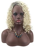 Damen Synthetische Perücken Kappenlos Mittel Lockig Blond Gefärbte Haarspitzen (Ombré Hair) Natürliche Perücke Kostümperücke