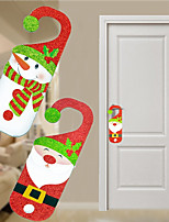 2pc Santa Claus Snowman Door Christmas Decoration Hanging Pendant For Home Decor Christmas Ornament Gift