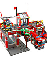 Building Blocks Toy Cars Fire Engine Vehicle Toys Forklift Pieces Children's Gift