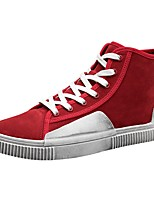 Men's Shoes Fabric Spring Fall Comfort Sneakers Lace-up For Casual Red Gray Black