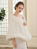 Women's Wrap Shawls Faux Fur Wedding Party/ Evening Plaid