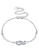 Women's Anklet/Bracelet Silver Plated Basic Circle Star Jewelry For Party Casual
