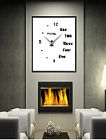 Modern/Contemporary Country Antique Casual Office/Business Asian Theme Classic Theme Romance Fashion Family Wall Clock EVA Stainless steel