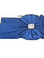 Women Bags All Seasons Silk Evening Bag Bow(s) for Wedding Event/Party Blue Black