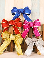 5PCChristmas Tree Decorations Bow Ornaments Knot Flowers Decoration Pendant Christmas Flower For Party Decoration