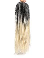 Twist Braids Hair Braid Crochet 100% kanekalon hair 100% Kanekalon Hair Black/Green Black/Purple Black/Red Black/Burgundy Black/Auburn 18
