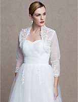 Women's Wrap Shrugs Lace Tulle Wedding Party/ Evening Applique Lace