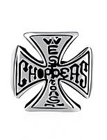Per uomo Anello a metà dito Gioielli Stile punk Personalizzato Acciaio inossidabile Lega A croce Di forma geometrica Gioielli Per