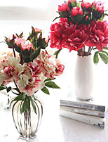 Artificial Flowers Fall Vivid Peony Fake Leaf Wedding Home Party Decoration 1 Branch