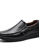 Men's Loafers & Slip-Ons Fur Lining Fluff Lining Comfort Fall Winter Real Leather Leather Wedding Casual Outdoor Office & Career Party &