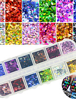 12Colors/Box Nail Art  Rhombus Laser Sequins DIY Nail Accessories Glitter Slice Nail Decoration