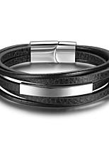 Homme Bracelet Basique Cuir Forme Géométrique Bijoux Pour Quotidien