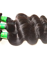 Unprocessed Indian Natural Color Hair Weaves Body Wave Hair Extensions 3 Pieces Black