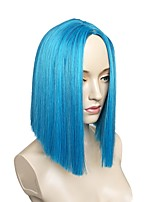 Women Synthetic Wig Capless Short Straight Blue Side Part Layered Haircut Party Wig Celebrity Wig Halloween Wig Carnival Wig Cosplay Wig