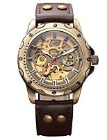 Hombre Niños Reloj Militar Reloj Esqueleto El reloj mecánico Japonés Cuerda Automática Calendario Cronógrafo Resistente al Agua