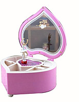 Music Box Toys Heart-Shaped Cartoon Plastics 1 Pieces Not Specified Birthday Gift