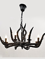 Resin Antlers Droplight Bar Cafe Sitting Room The Bedroom Of Individual Character Dining-Room American Europe And The United States Antlers Lamp Resto
