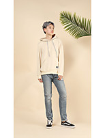 Men's Going out Casual/Daily Simple Hoodie Solid Hooded Micro-elastic Cotton Long Sleeve Spring Fall Winter