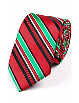 Men's Polyester Neck Tie,Striped Jacquard All Seasons