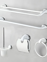 Bathroom Accessory Set Towel Bar Towel Ring Toilet Paper Holder Toilet Brush Holder Towel Warmer Modern Style Stainless Steel 60*25*25