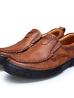 Men's Shoes Nappa Leather Fall Winter Formal Shoes Loafers & Slip-Ons For Casual Party & Evening Brown