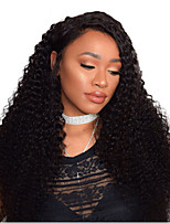 Women Human Hair Lace Wig Malaysian Remy Glueless Lace Front 150% Density With Baby Hair Deep Wave Wig Black Long For Black Women Virgin