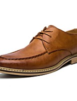 Men's Shoes Synthetic Microfiber PU Spring Fall Driving Shoes Formal Shoes Oxfords Lace-up For Casual Office & Career Khaki Brown Black