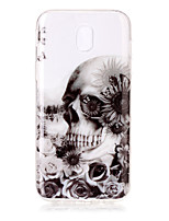 For Case Cover IMD Transparent Pattern Back Cover Case Skull Soft TPU for Samsung Galaxy J7 (2016) J7 (2017) J5 (2016) J5 (2017) J3 J3