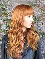 Women Human Hair Capless Wigs Chestnut Brown/Bleach Blonde Medium Auburn Honey Blonde Black Long Wavy